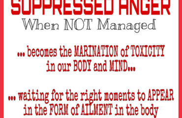 Suppressed anger when not managed